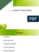 Intro to Derivatives