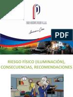 Riesgos Iluminación, Tipos de Iluminacion, Valores Recomendados, Cosecuencias y Recomendaciones...