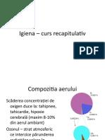 Igiena – curs recapitulativ