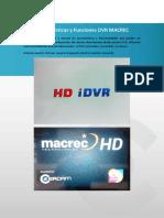 Características y Funciones DVR MACREC