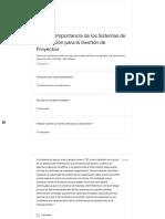 Paso 1 – Importancia de los Sistemas de Información para la Gestión de Proyectos