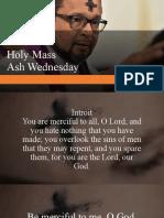 Ash Wednesday and Adoration