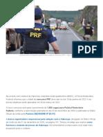 Concurso PRF 2021