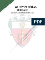 J. Bernabe Case Digests - Political Law