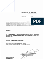 DECRETO E-999-2009