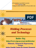 Welding Process and Technology