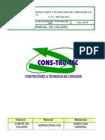 Manual de Calidad CONSTRUTEC