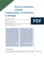 Notas Sobre Os Conceitos de Comunicação Comunitária, Comunidade e Dialogia (2014)