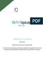 Manuel d ' Utilisation Repeteur Wi-fi