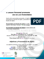 5 Lesson Personal pronouns