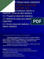 Capitolul 2.1. Observarea statistuica