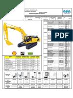 Carta de Lubricacion Triple A - KOMATSU RETROEXCAVADORA PC300