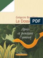 Prix Décembre 2017 - Grégoire Bouillier - Le Dossier M