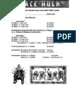 Genestealer Force List