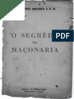 o Segredo Da Maconaria