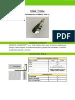 11029233 Ft Rodometal Tipo l 2.4 Mt Aluminio