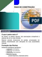 Aula Pedras Naturais Vidros Platicos - Materiais II