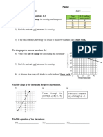 Jacob Lanes - Pretest - Linear Equations