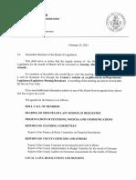 Jefferson County Board of Legislators March 2021 agenda