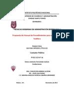 DOCUMENTACION DE UN SISTEMA DE CALIDAD ISO 9001