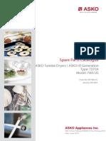 Asko dryer spare parts catalog 2003 edition