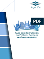Guia Para Formulacion de Politicas Publicas Version Actualizada 2017