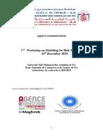 Appel à Communication-1rst Workshop on Modeling for Risk Management-EnCG Fès-24 Décembre 2020