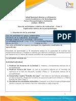 Guía de actividades y rúbrica de evaluación – Paso 2 – Explicación teórica de la psicopatología