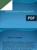 Orientation to Hospitals