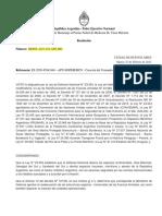 Resolución Corredor Marítimo Argentina.