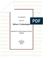 Industrial report on Infosys