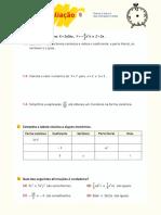 Mat 8 PT TA 5 Polinómios e Equações do 2º grau