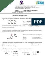 Ativiadade 8 Quimica 3 Ano NOMENCLATURA DE ÁLCOOIS