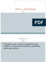 Adjetivos e Adverbios