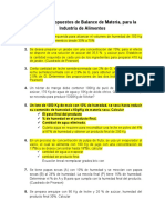 Ejercicios propuestos de Balance de Materia 2