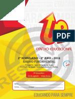 2º SIMULADO - 8º ANO ENSINO FUNDAMENTAL. Gramática - Interpretação de Texto Produção de Texto - Livro Paradidático - Inglês