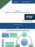 T.5 El derecho de la propiedad industrial e intelectual