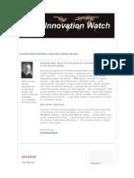 Innovation Watch Newsletter 10.05 - February 26, 2011