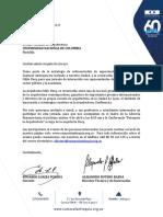 CARTA DECANOS FACULTAD ARQUITECTURA