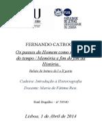 Trabalho de Historiografia, Raul Bugalho