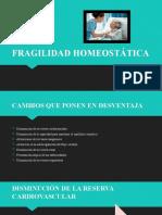 FRAGILIDAD HOMEOSTÁTICA