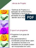 Apresentacao Ger Projetos - areas de conhecimento