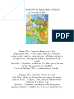 LA HISTORIA DE LA CREACION SEGUN EL GÉNESIS