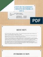 RELACION DE TRASMISION DE UN MOLINO DE PIEDRA