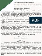 D.P.R. 184-06 accesso ai documenti