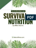 Survival-Nutrition