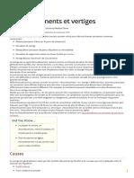 Étourdissements Et Vertiges - Troubles Du Nez, De La Gorge Et de l'Oreille - Manuels MSD Pour Le Grand Public_1614055131243