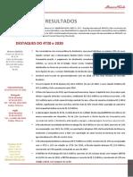 Press Release Do Resultado Da Minerva Do 4t20