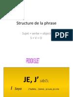 Structure de La Phrase