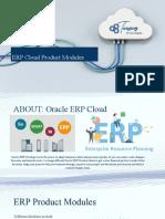 ERP Cloud Product Modules